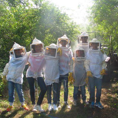 Les futurs apiculteurs de la famille Beutelspacher